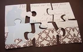 Unique Wedding Invitations Puzzle Wedding Invitation Ticket Stub