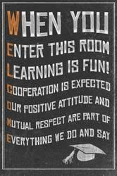 Motivational artwork for office 90s Welcome New Classroom Motivational Poster Allposterscom Affordable Education Posters For Sale At Allposterscom