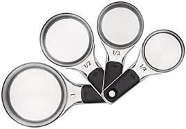 OXO Good Grips Measuring Cups with <b>Magnetic</b> Snaps, <b>Stainless</b>