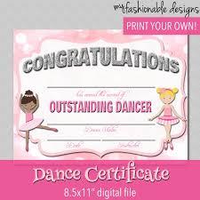 Dance Award Certificate 27 Images Of Dance Award Award Template Netpei Com