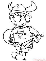 Viking 16 Characters Printable Coloring Pages