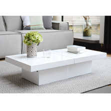 contemporary coffee table. two block storage coffee table white contemporary r
