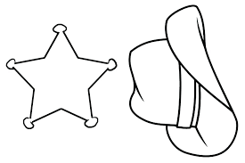 Bright Design Cowboy Boots Coloring Pages To Print And Hat Free Page