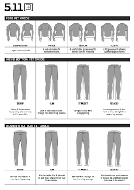 5 11 Tactical Size Guide Tacsource
