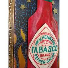 Bob Zeno Tabasco Hot Sauce Original Folk Art Painting