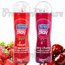 <b>Durex PLAY</b> Sweet Strawberry and <b>Very Cherry</b> Lubricant 50ml * 2 ...