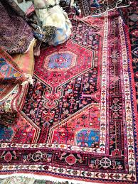 persian rug on display oriental