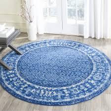 8 ft round rug luxury safavieh adirondack vintage light blue dark blue rug 8 round