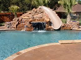 residential indoor pool with slide. Custom Rock Pools With Curved Slides Residential Indoor Pool Slide