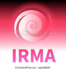 Graphic banner of hurricane irma. icon / sign / symbol of the hurricane,  vortex, tornado. | CanStock