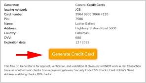 free credit card numbers generator