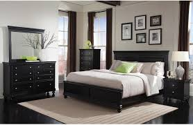 King Size Black Bedroom Furniture Sets Bridgeport 6 Piece King Bedroom Set Black The Brick