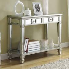 sofa console table. Monarch Specialties 3700 Mirrored 38 Inch Sofa Console Table W/ 2 Drawers H