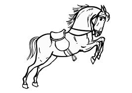Kleurplaat Springend Paard Afb 10361 Images
