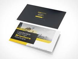 Pamphlet And Brochure Landscape Bi Fold Pamphlet Brochure Front Back Panels Psd
