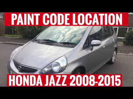 2013 Honda Fit Color Chart Where Is The Paint Code Location On A Honda Jazz 2008 2015 Find It Fast