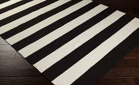 image of black and white rugs for bedroom