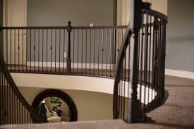 replacing wood spindles with wrought iron spindles decorative metal handrails for stairs iron baers s