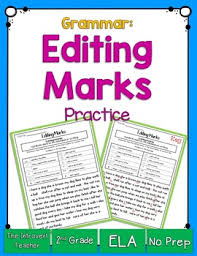 Printable Editing Marks Chart Editing And Proofreading Marks Worksheets Teaching
