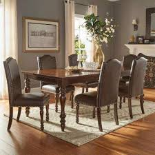madison 7 piece brown extendable dining set 1 homesullivan madison 7 piece brown extendable dining set