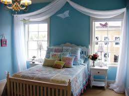 blue paint colors for girls bedrooms. Light Blue Teenage Girl Bedroom Paint Color With Wooden Furnishing And White Flowy Canopy Colors For Girls Bedrooms