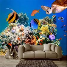 tropical aquarium wallpaper. Fine Aquarium Beibehang Mural Deep Sea Tropical Aquarium Fish Turtles Photo Wall  Paper Wallpaper For 3d In Tropical Aquarium Wallpaper