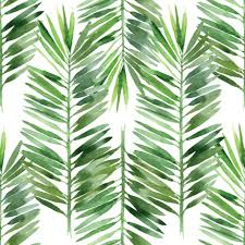 Palm Leaf Pattern Gorgeous Watercolor Palm Tree Leaf Pattern Mural Murals Your Way