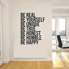 be real be yourself be unique be happy inspirational quote wall art decal on inspirational quotes wall art with amazon be real be yourself be unique be happy inspirational