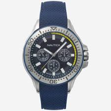 mens watches sport strap metal leather nautica auc multifunction watch multi