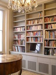 handmade built in bookcase with cabinets bespoke wall storage