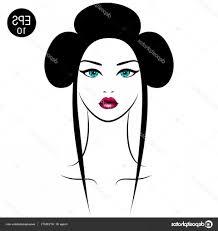 Stock Illustration Vector Asian Woman Girls Portrait Newwaysys