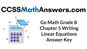 go math grade 8 answer key chapter 5