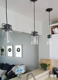 3 pendant lights over sink the honeycomb home