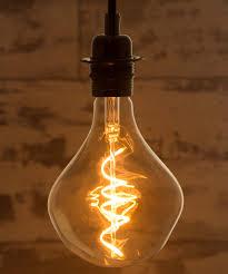 Large Filament Light Bulbs Wabi Sabi Sculpture Extra Large Spiral Filament Led Bulb 4w Low Energy Consumption