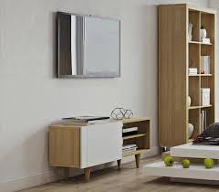 teme cruz tv unit in white and oak thumbnail