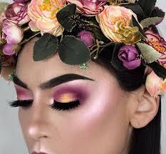cute flower makeup