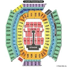 Lincoln Financial Field Seating Chart Kenny Chesney Lincoln Financial Field Seating Chart For Kenny Chesney