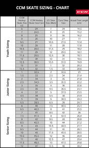Ccm Skate Width Chart Ccm Skates Size Chart Hockey Size Skatepro