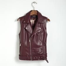 2017 plus size women coat leather vest womens fashion vests womens cool slim vest coats casual
