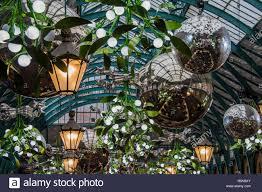 Mistletoe Ball Lights Mistletoe And Glitter Balls In The Market Building