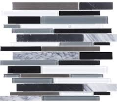 anatolia bliss arctic night stone stainless blend linear mosaic