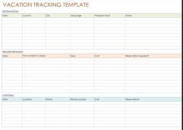 Vacation And Sick Time Tracking Spreadsheet 5 Best Vacation Tracking Templates To Track Your Vacations