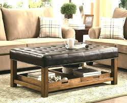 black leather ottoman coffee table square leather ottoman coffee table square