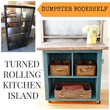 diy bookcase kitchen island. Beautiful Diy Rolling Cart Made From Bookshelf And Diy Bookcase Kitchen Island