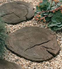 timberstone log garden stepping stones