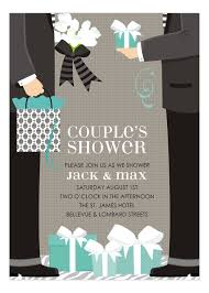 Couple Wedding Shower Invitations Blue Two Grooms Classic Couple Wedding Shower