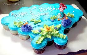 12 Little Mermaid Birthday Cake And Cupcakes Photo Little Mermaid
