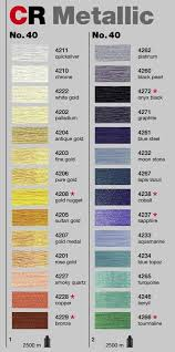 Madeira Machine Embroidery Thread Color Card Charts