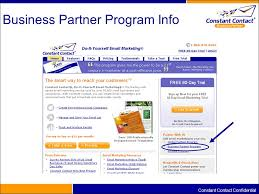 business partner program overview discussion alec stern vp  15 constant contact confidential business partner program info