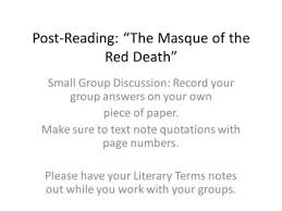 masque of the red death on your blank sheet of paper write post reading ldquothe masque of the red deathrdquo